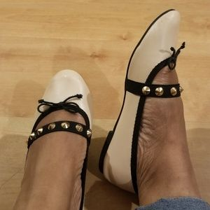 Topshop flats with gold studs